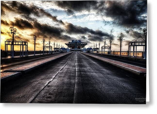 St. Petersburg Pier Sunrise  Greeting Card