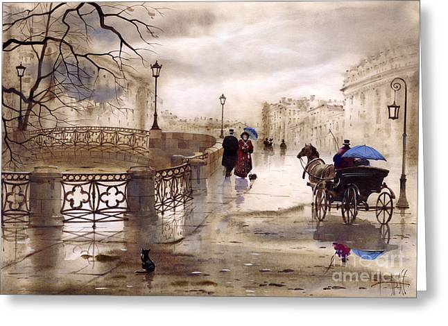 St. Petersburg Greeting Card by Svetlana and Sabir Gadghievs