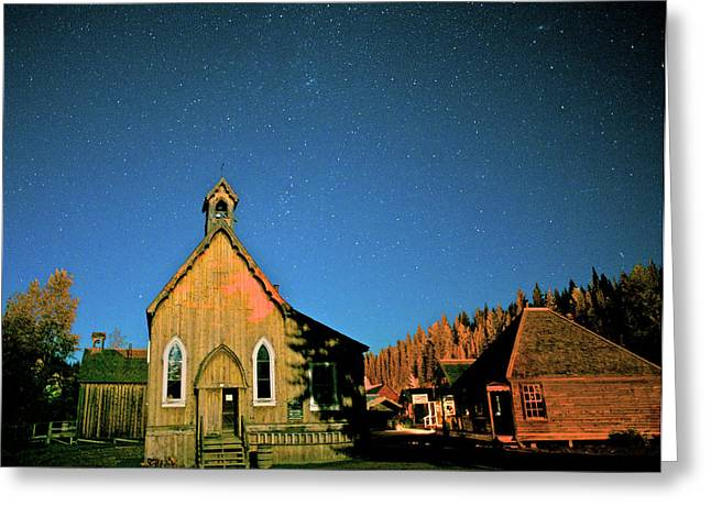 St Savior's Church Under A Summer Night Greeting Card