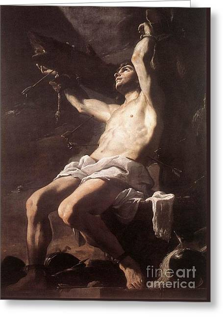 St Sebastian Greeting Card by Celestial Images