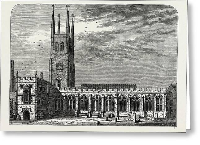 St. Sepulchres Church In 1737 Greeting Card