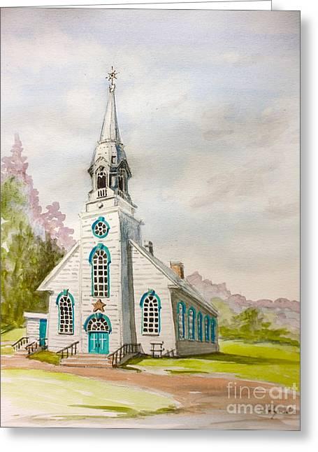 St Simeon Church Quebec Canada Greeting Card
