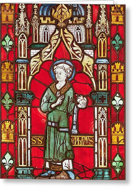 Saint Stephen Greeting Card by English School
