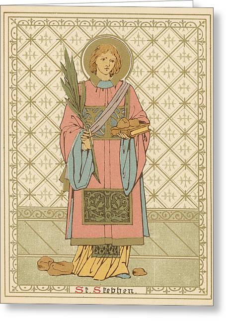 St Stephen Greeting Card by English School