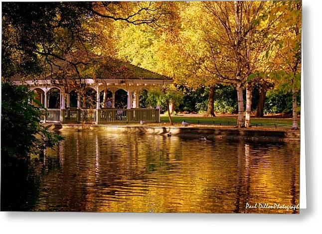 St Stephen Green Dublin Greeting Card by Paul Dillon