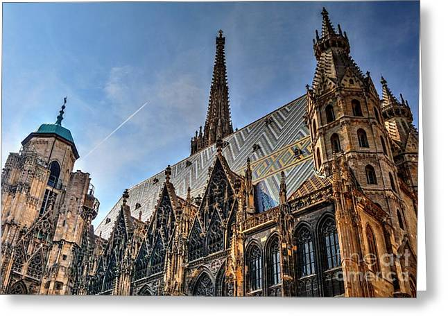 Greeting Card featuring the photograph St. Stephen's Cathedral by Joe  Ng