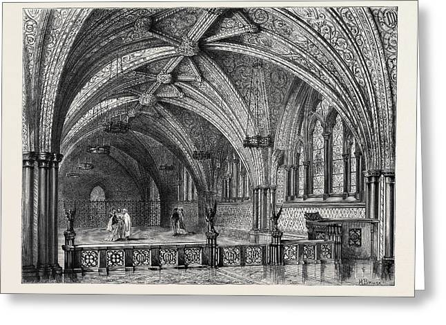 St. Stephens Crypt, Westminster, London Greeting Card