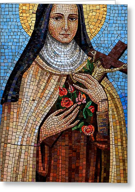 St. Theresa Mosaic Greeting Card