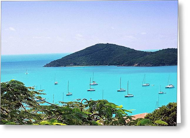 St Thomas Harbor Greeting Card by Aimee L Maher Photography and Art Visit ALMGallerydotcom
