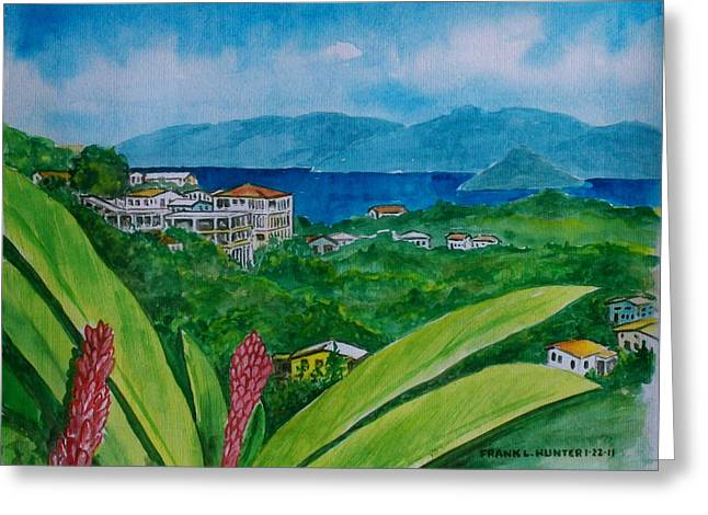 St. Thomas Virgin Islands Greeting Card by Frank Hunter