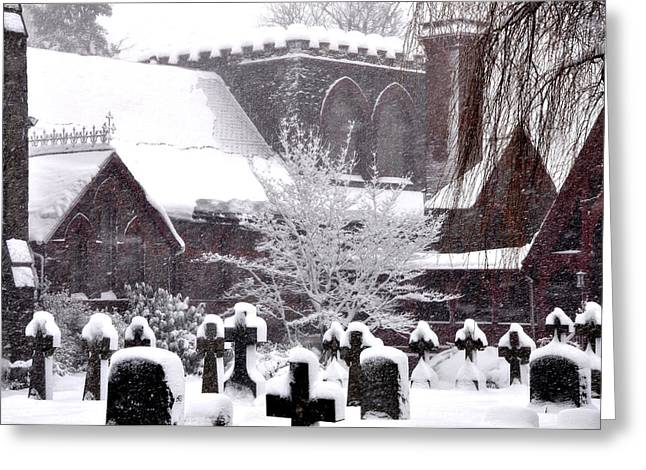 St Timothys In The Snow Greeting Card by Bill Cannon