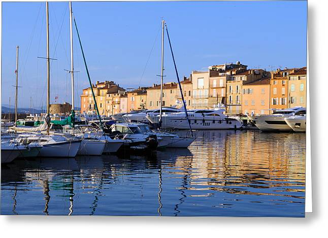 St. Tropez - France Greeting Card by Haleh Mahbod