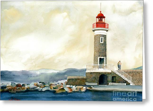 St. Tropez Lighthouse France Greeting Card