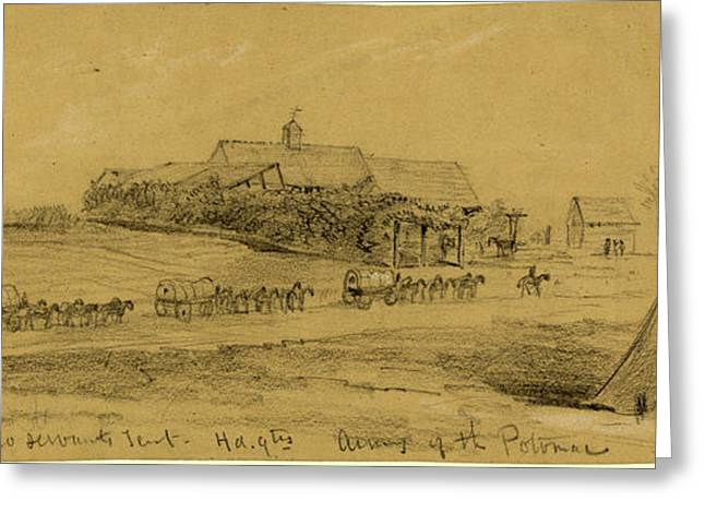 Stables And Negro Servants Tent, Hd.qtrs Army Of The Potomac Greeting Card by Quint Lox