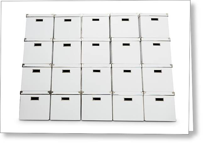 Stack Of Storage Boxes Greeting Card