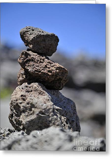 Stack Of Volcanic Stones Greeting Card