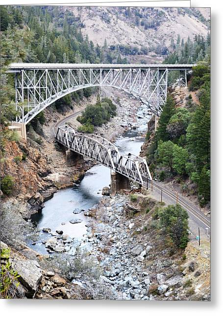 Stacked Bridges Greeting Card