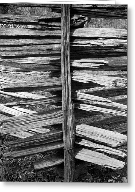 Stacked Fence Greeting Card by Lynn Palmer