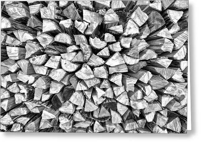 Stacked Firewood Greeting Card
