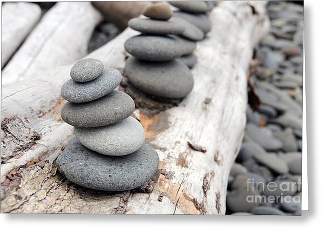 Stacked Rocks Greeting Card