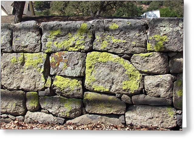 Stacked Stone Wall Greeting Card