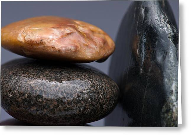 Stacked Stones 3 Greeting Card by Steve Gadomski