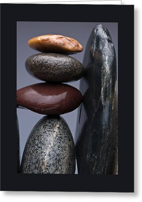 Stacked Stones 5 Greeting Card by Steve Gadomski