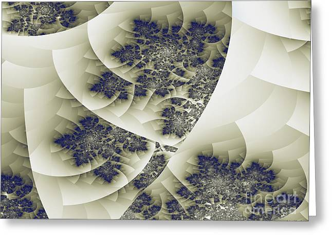 Greeting Card featuring the digital art Stactal The Fractal by Arlene Sundby
