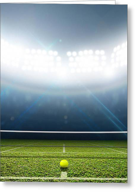 Stadium And Tennis Court Greeting Card