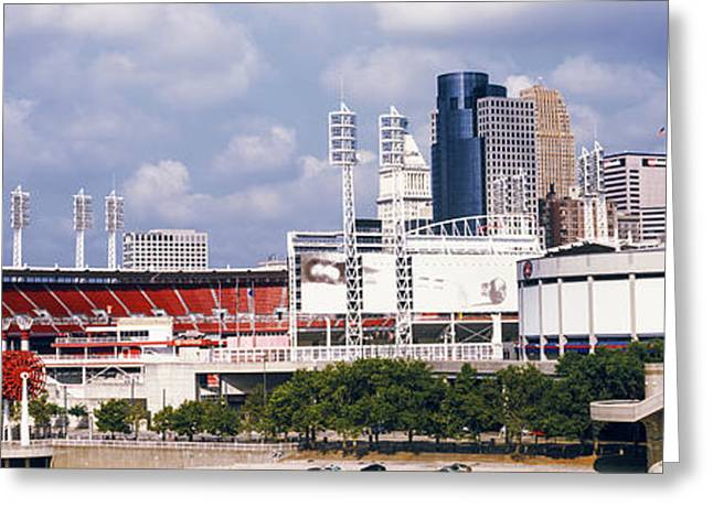 Stadium In A City, U.s. Bank Arena Greeting Card by Panoramic Images