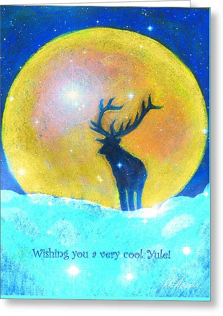 Stag Of Winter Greeting Card