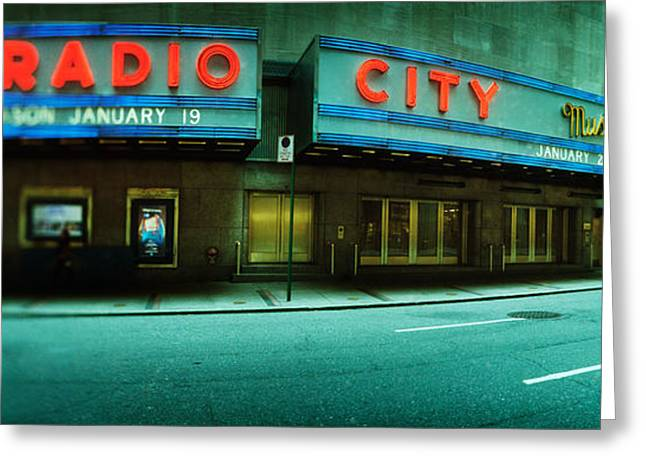 Stage Theater At The Roadside, Radio Greeting Card by Panoramic Images