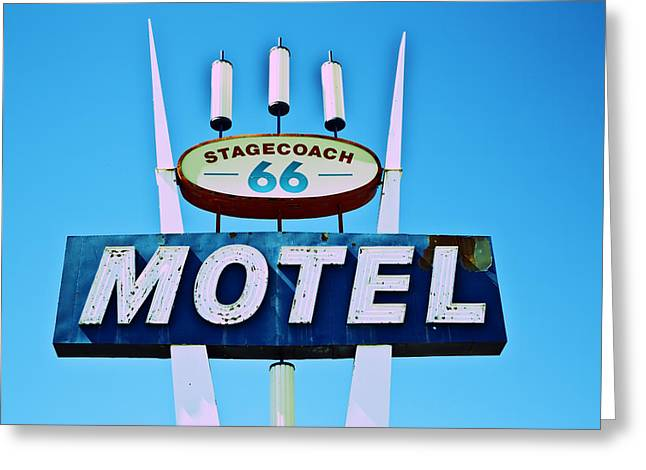 Stagecoach 66 Motel Greeting Card