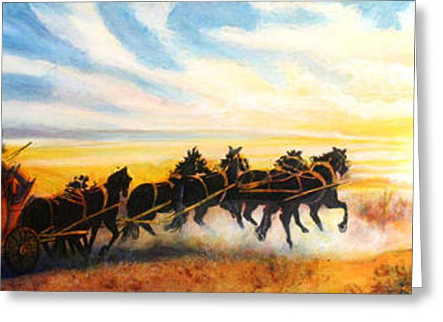 Stagecoach Greeting Card by Beth Gramith