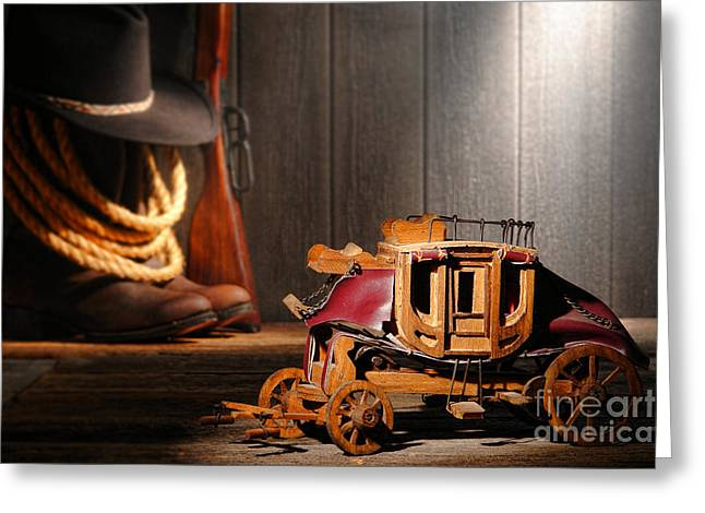 Stagecoach Dream Greeting Card