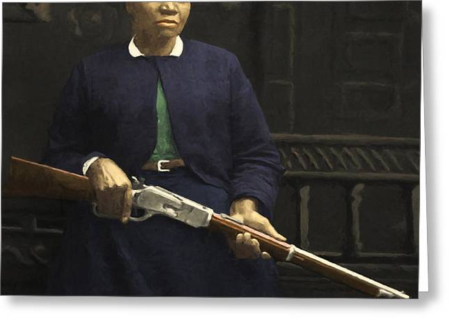 Stagecoach Mary Fields 20130518 Square Greeting Card by Wingsdomain Art and Photography
