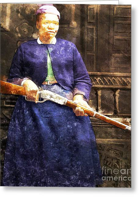 Stagecoach Mary Fields 20130518wc Greeting Card by Wingsdomain Art and Photography