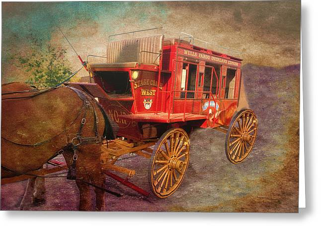 Stagecoach West Textured Greeting Card
