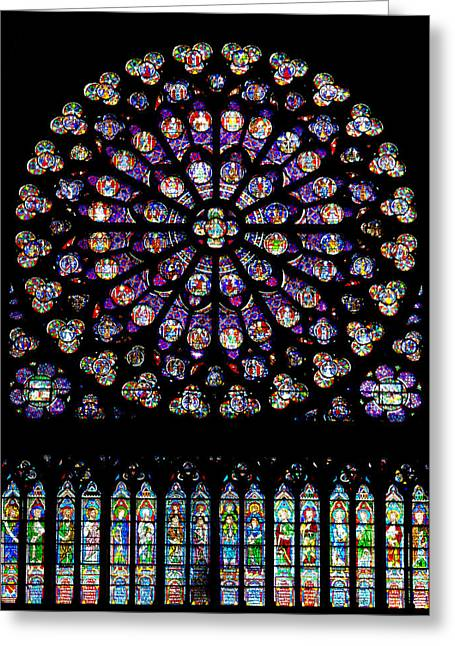 Stained Glass At Notre Dame Greeting Card