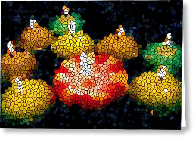 Stained Glass Candle 1 Greeting Card by Lanjee Chee