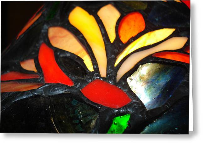 Stained Glass Five Greeting Card