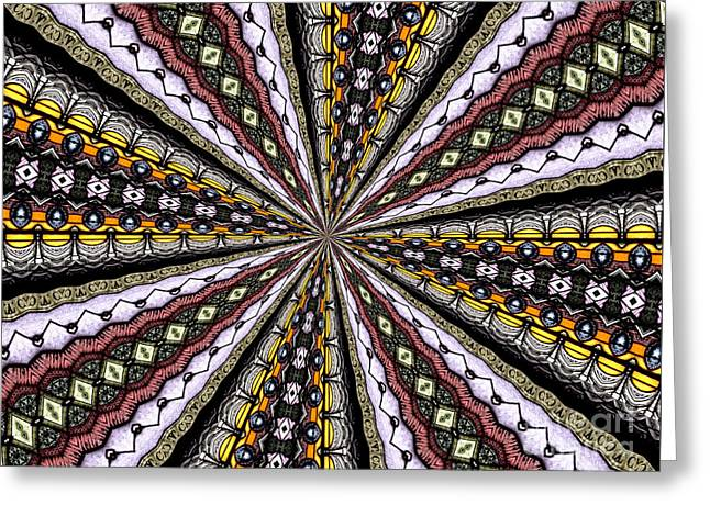 Greeting Card featuring the photograph Stained Glass Kaleidoscope 1 by Rose Santuci-Sofranko