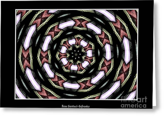 Avant Garde Photograph Greeting Cards - Stained Glass Kaleidoscope 12 Greeting Card by Rose Santuci-Sofranko