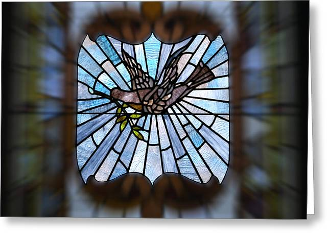 Stained Glass Lc 13 Greeting Card by Thomas Woolworth