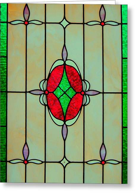 Stained Glass Greeting Card by Mary Ann Southern