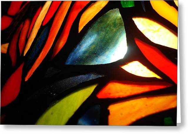 Stained Glass Seven Greeting Card