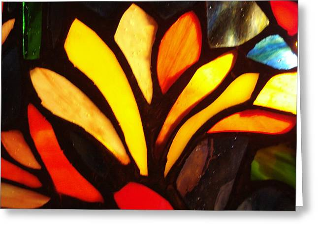 Stained Glass Six Greeting Card