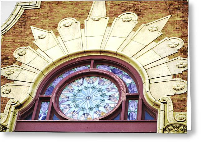 Stained Glass Window Architecture Detail Greeting Card