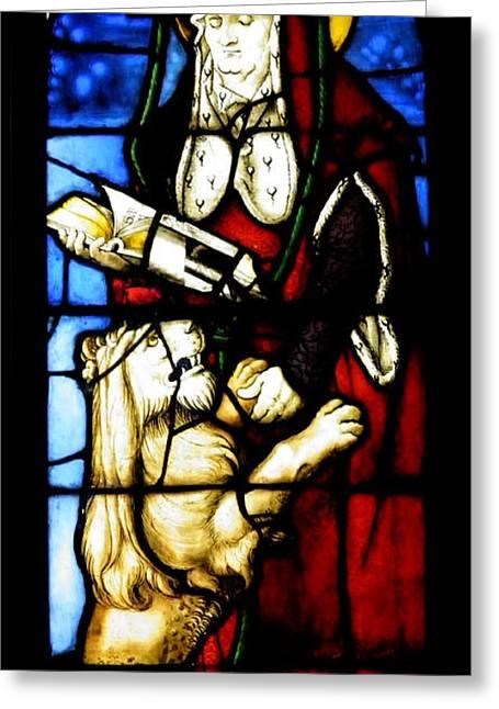 Stained Glass Window C Freiburg Im Breisgau Greeting Card by Leone M Jennarelli