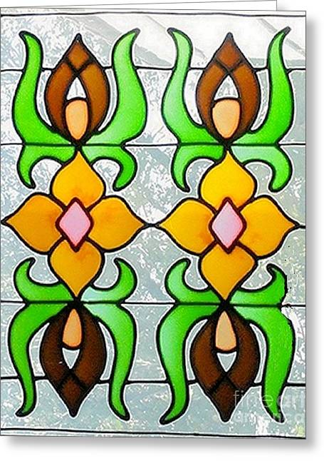 Greeting Card featuring the photograph Stained Glass Window by Janette Boyd
